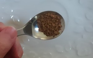 エクササイズコーヒーの粉の形状 インスタントコーヒーに似ている