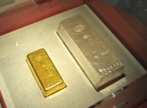 造幣局の金塊と銀塊